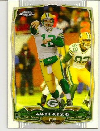 Aaron Rodgers 2014 Topps Chrome Refractor Card