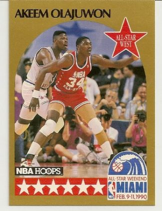 Akeem Olajuwon 1990-91 Hoops All-Star SP Card