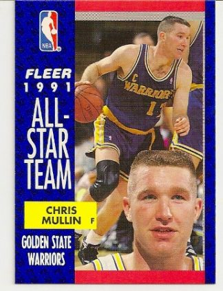 Chris Mullin 1991-92 Fleer All-Star Card