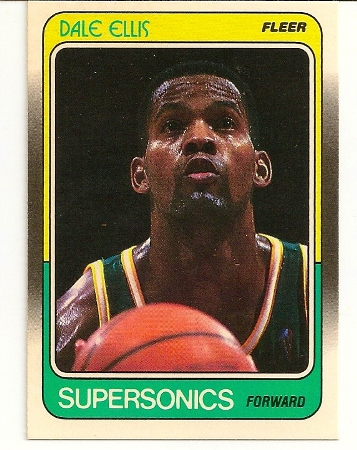 Dale Ellis 1988-89 Fleer Card