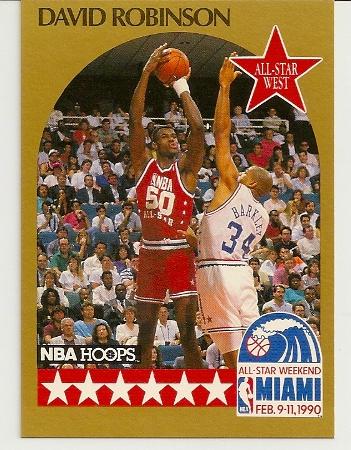 David Robinson 1990-91 Hoops All-Star SP Card