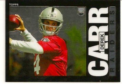Derek Carr 2014 Topps Chrome 1985 Rookie Card