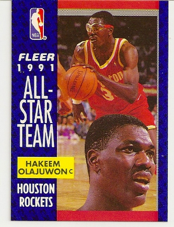 Hakeem Olajuwan 1991-92 Fleer All-Star Card
