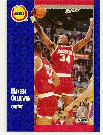 Hakeem Olajuwan 1991-92 Fleer Card