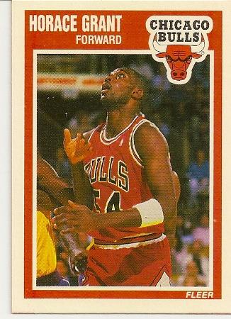 Horace Grant 1989-90 Fleer Card