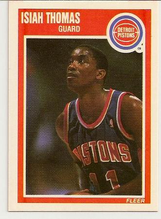 Isiah Thomas 1989-90 Fleer Card