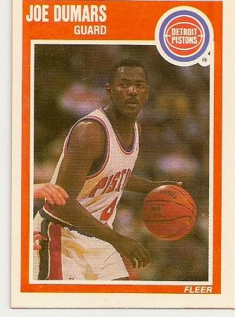 Joe Dumars 1989-90 Fleer Card
