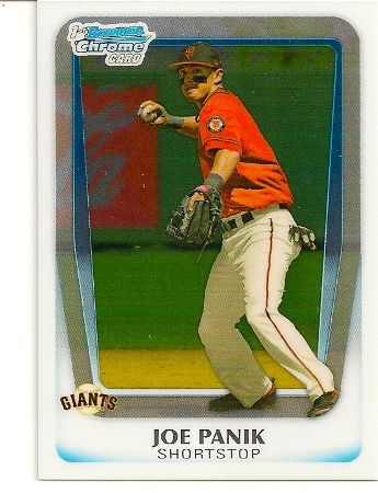 Joe Panik 2011 Bowman Chrome Draft Rookie Card