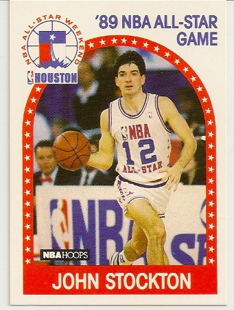 John Stockton 1989-90 Hoops All-Star Card