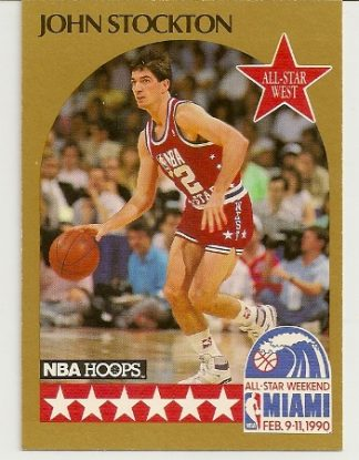 John Stockton 1990-91 Hoops All-Star SP Card