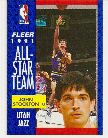John Stockton 1991-92 Fleer All-Star Card