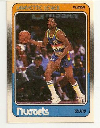 Lafayette Lever 1988-89 Fleer Card
