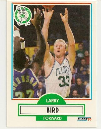 Larry Bird 1990-91 Fleer Card