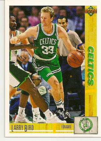 Larry Bird 1991-92 Upper Deck Card