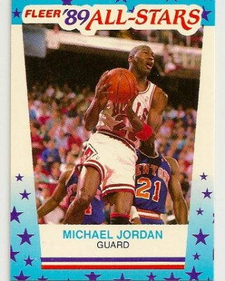 Michael Jordan 1989-90 Fleer Sticker Card