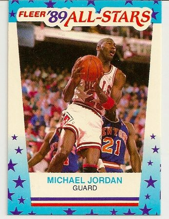 Michael Jordan 1989-90 Fleer Sticker Card