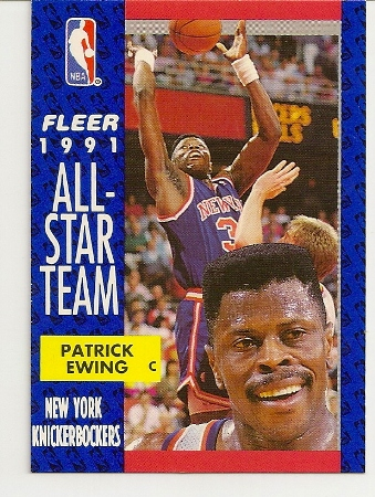 Patrick Ewing 1991-92 Fleer All-Star Card