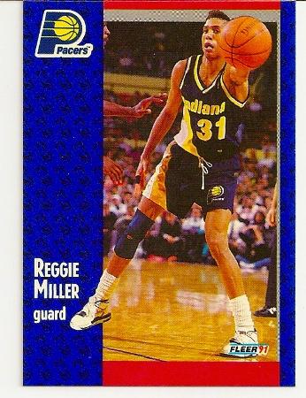 Reggie Miller 1991-92 Fleer Card