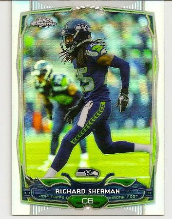 Richard Sherman 2014 Topps Chrome Refractor Card