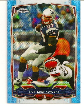 Rob Gronkowski 2014 Topps Chrome Blue Wave Refractor