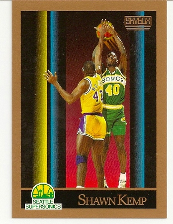 Shawn Kemp 1990-91 Skybox Rookie Card
