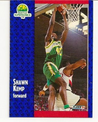 Shawn Kemp 1991-92 Fleer Card