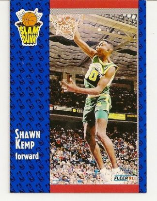 Shawn Kemp 1991-92 Fleer Slam Dunk Card