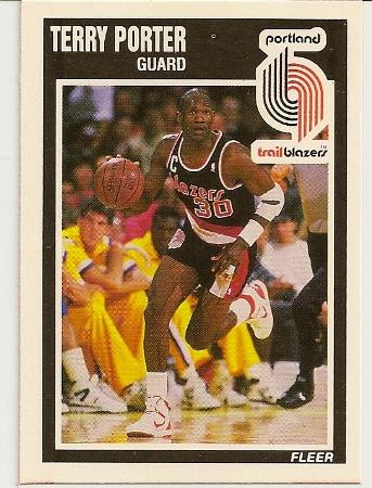 Terry Porter 1989-90 Fleer Card