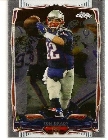 Tom Brady 2014 Topps Chrome Card