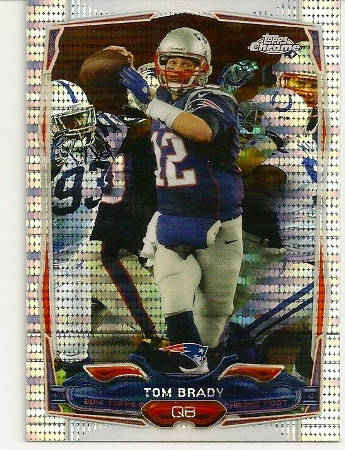 Tom Brady 2014 Topps Chrome XFractor Card