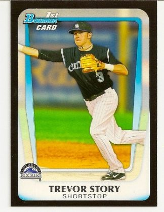 Trevor Story 2011 Bowman Draft Picks & Prospects Rookie Card