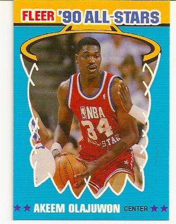 Akeem Olajuwon 1990-91 Fleer All-Star Basketball Card