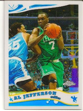 Al Jefferson 2005-06 Topps Chrome Refractor Card