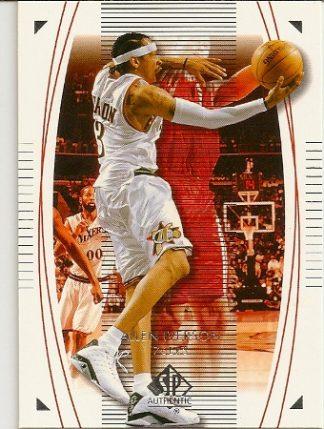 Allen Iverson 2003-04 Sp Authentic Basketball Card