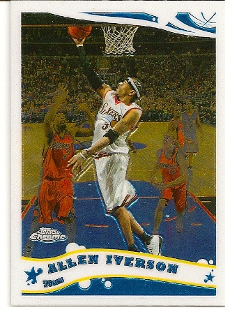 Allen Iverson 2005-06 Topps Chrome Basketball Card