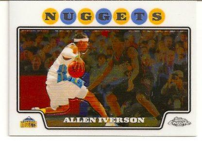 Allen Iverson 2008-09 Topps Chrome Basketball Card