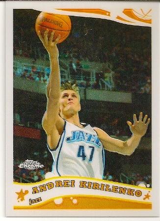Andrei Kirilenko 2005-06 Topps Chrome Refractor Card