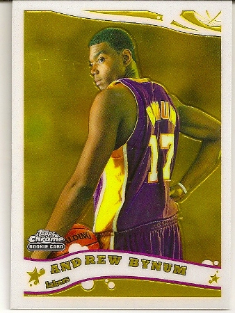 Andrew Bynum 2005-06 Topps Chrome Rookie Card