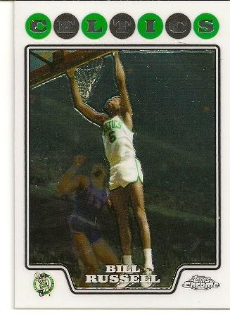 Bill Russell 2008-09 Topps Chrome Basketball Card