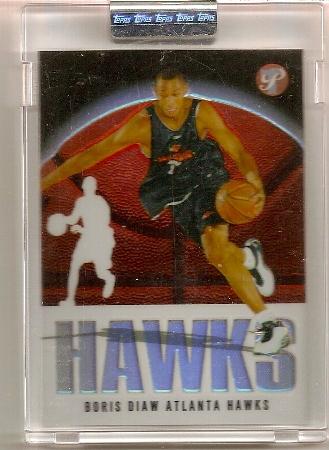 Boris Diaw 2003-04 Topps Pristine Refractor Rookie Card