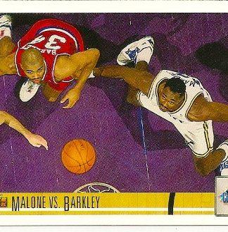 Charles Barkley Vs. Karl Malone1991-92 Upper Deck Classic Confrontation Card
