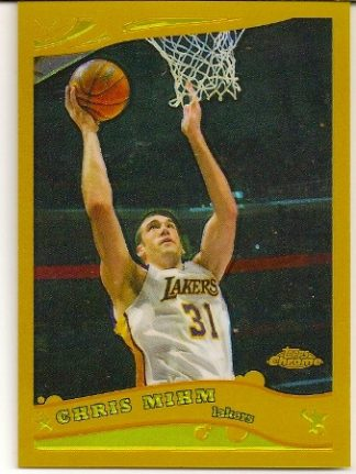 Chris Mihm 2005-06 Topps Chrome Gold Refractor Card /99