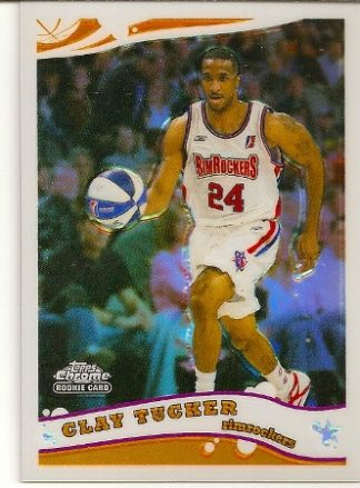 Clay Tucker 2005-06 Topps Chrome Refractor Rookie Card