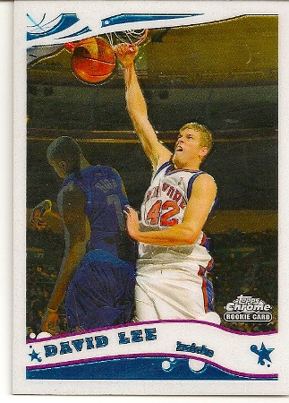 David Lee 2005-06 Topps Chrome Rookie Card