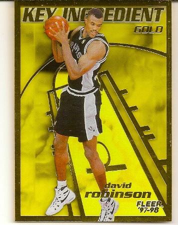 David Robinson 1997-98 Fleer Key Ingredient Gold Basketball Card
