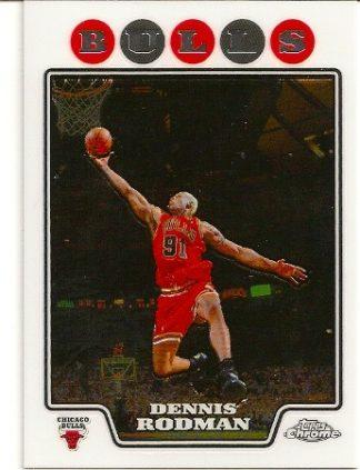 Dennis Rodman 2008-09 Topps Chrome Basketball Card