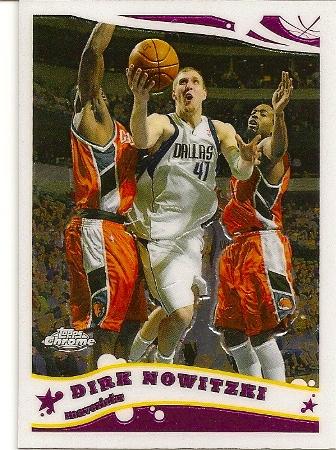 Dirk Nowitzki 2005-06 Topps Chrome Basketball Card