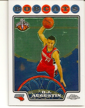 D.J. Augustin 2008-09 Topps Chrome Rookie Card