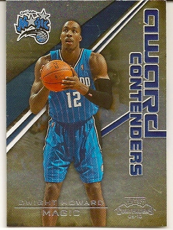 3e5d2d686 Dwight Howard 2009-10 Playoff Contenders Insert Basketball Card