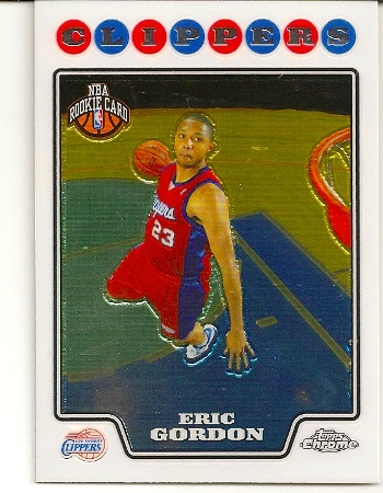 Eric Gordon 2008-09 Topps Chrome Rookie Card